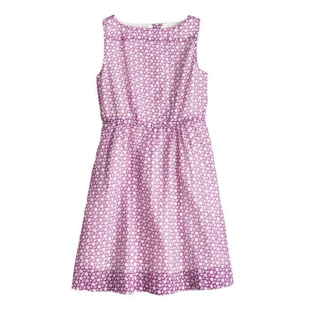 Girls' medallion floral dress