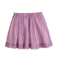 Girls' pleated organdy skirt in medallion floral