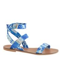 Leila tie-dye ankle-wrap sandals