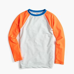 Boys' baseball rash guard