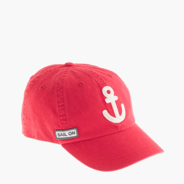 Kids' anchor baseball cap