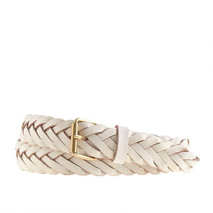 Chevron braided leather belt