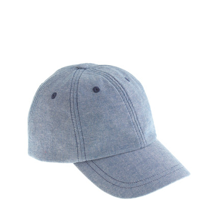 Kids' chambray baseball cap