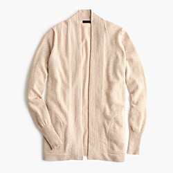 Italian cashmere long open cardigan sweater