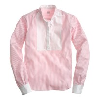 E. Tautz™ neckband shirt in pink stripe
