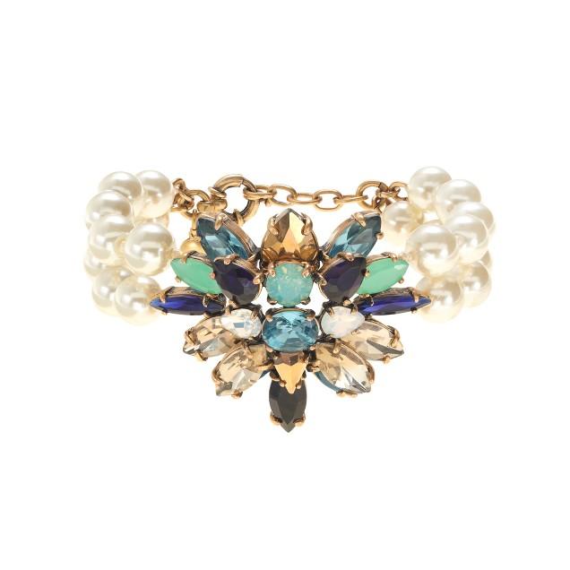 Stone burst pearl bracelet