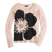 Linen abstract flower sweater