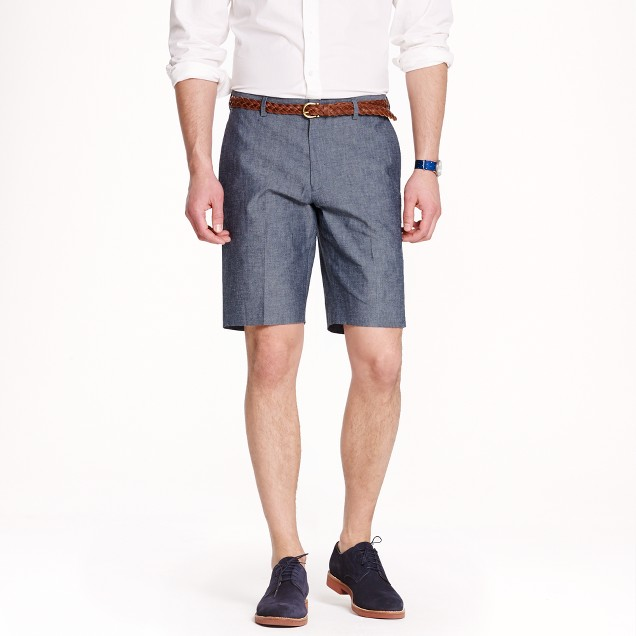 Ludlow suit short in Japanese chambray