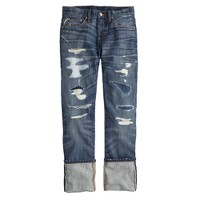 Point Sur slim stacker selvedge jean in frederick wash