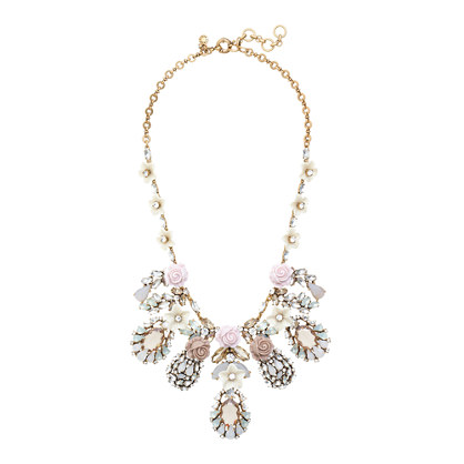 Flower bud statement necklace