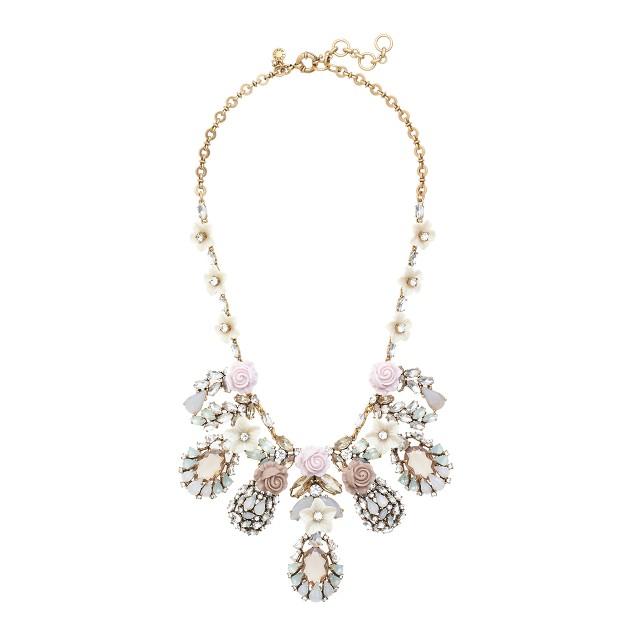 Flower bud statement necklace