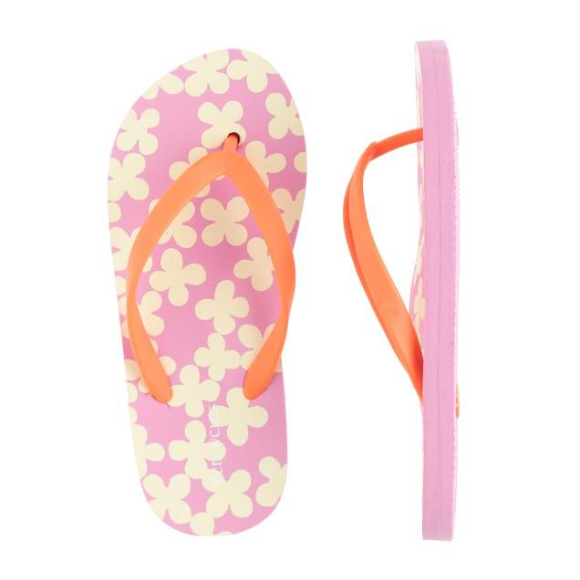 Girls' patterned flip-flops