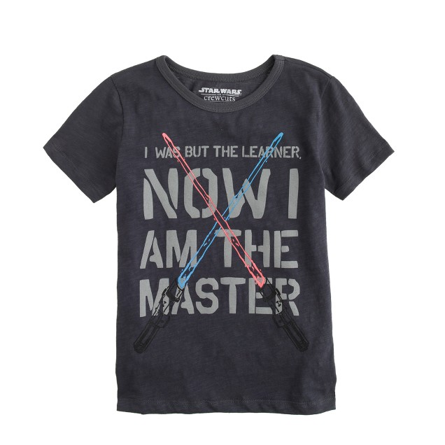 Kids' Star Wars™ for crewcuts tee in glow-in-the-dark jedi master