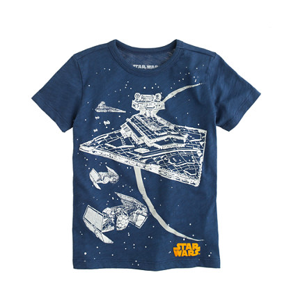 Kids' Star Wars™ for crewcuts tee in glow-in-the-dark starship