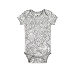 Baby one-piece in damask