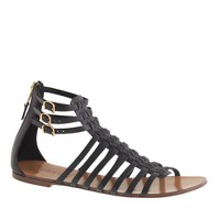 Woven gladiator sandals