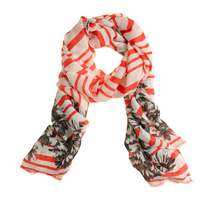 Photo floral stripe scarf
