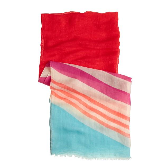 Colorblock stripe scarf