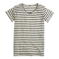 Side-slit tunic in stripe
