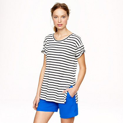 Side-slit tunic in stripe