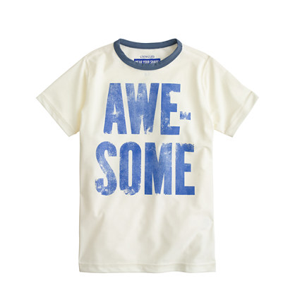 Boys' short-sleeve awesome rash guard