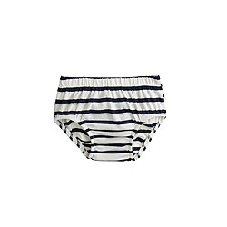 Baby bloomers in stripe ruffle