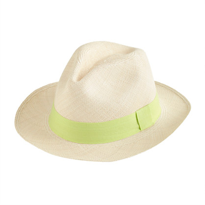 Panama hat with contrast ribbon