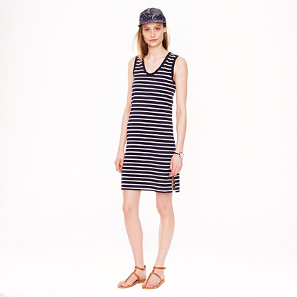 Pima cotton dress in stripe