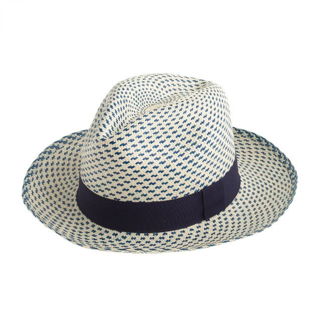 Panama hat in two-tone