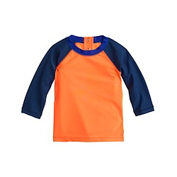 Baby rash guard in neon tricolor