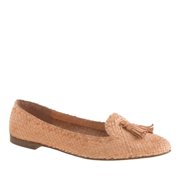 Cleo basket-weave loafers