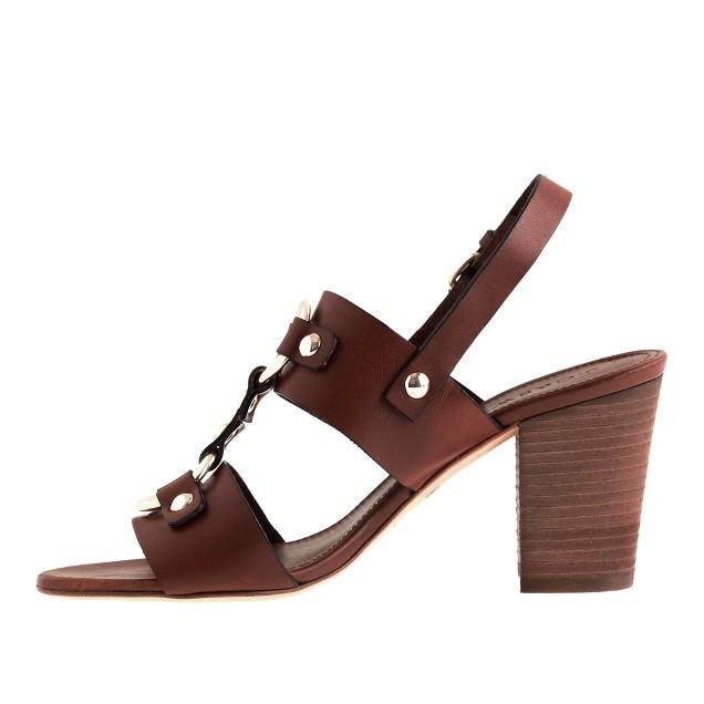 Equestrian midheel sandals