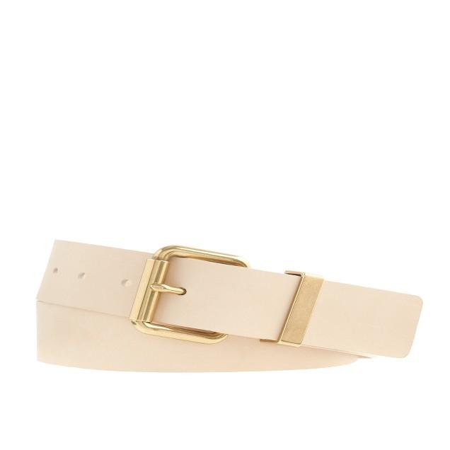 Wide Italian leather belt