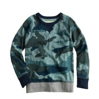 Boys' blue camo sweatshirt