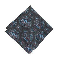 Drake's® silk pocket square in large paisley
