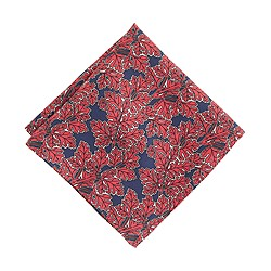 Drake's® silk pocket square in leaf print