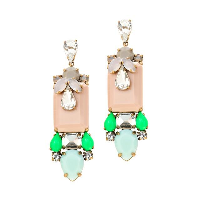 Polynesian stone earrings