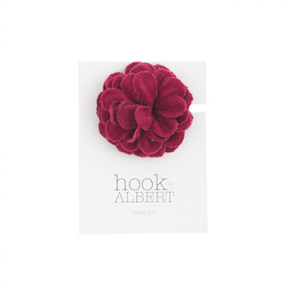 Hook + Albert™ velvet lapel pin