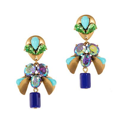 Crystal mobile earrings