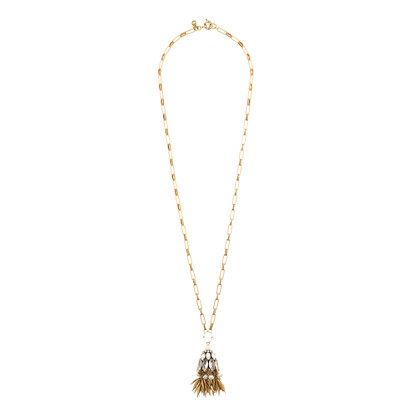 Bell tassel pendant necklace