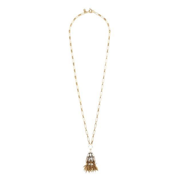 Bell tassel pendant necklace