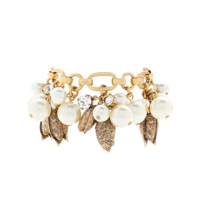 Pearls and petals bracelet