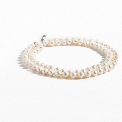 Freshwater pearl double-strand necklace