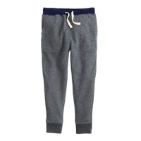 Boys' slim slouchy sweatpant in contrast waistband