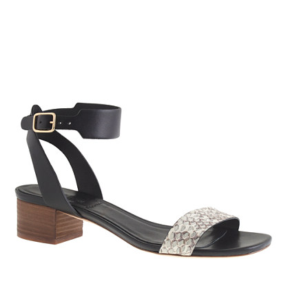 Collection Evie snakeskin midheel sandals