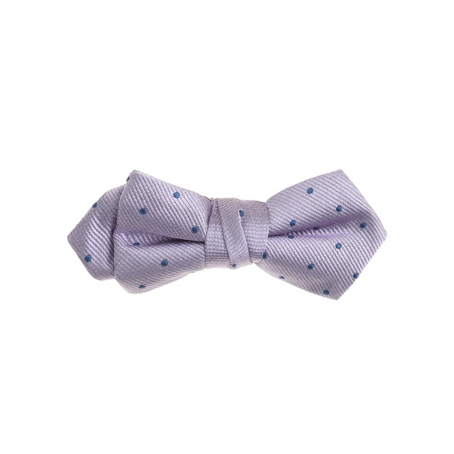 Boys' silk bow tie in polka dot