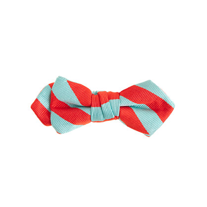 Boys' silk bow tie in cape blue stripe