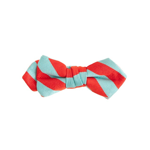 Boys' silk bow tie in cape blue stripe