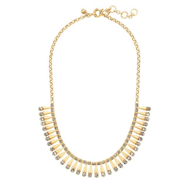 Brass pins necklace