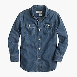 Boys' chambray workshirt